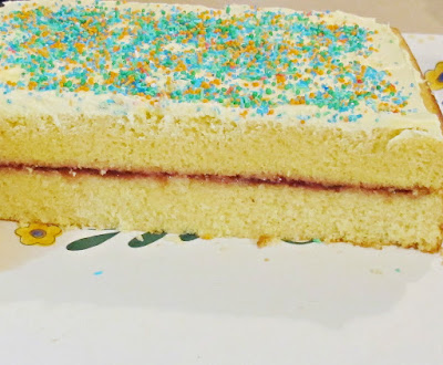 two layer fairy bread cake recipe diy