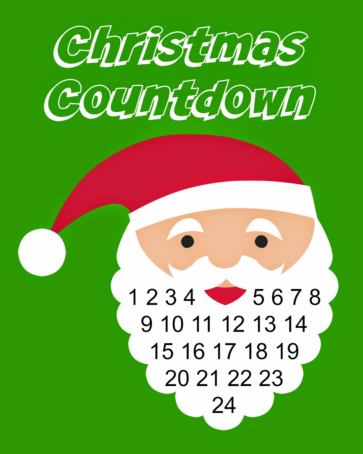 East Coast Mommy Christmas Countdown Printable