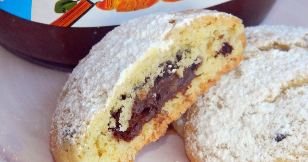 Cookies con cuore di Nutella