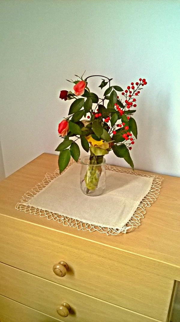 ramo flores rosas invernal