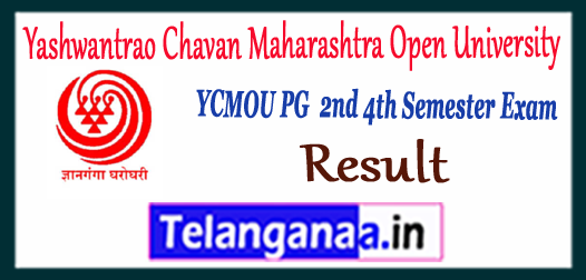 YCMOU Yashwantrao Chavan Maharashtra Open University of Nashik MA M.Sc M.Com 2nd 4th Semester Result 2017