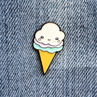 Kawaii Ice Cream Cone Lapel Pin