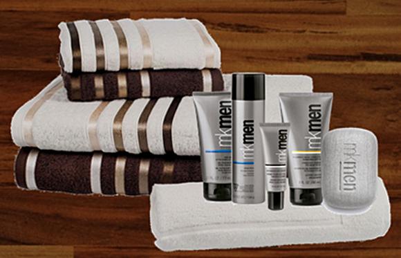 Toalhas de banho e materiais de higiene