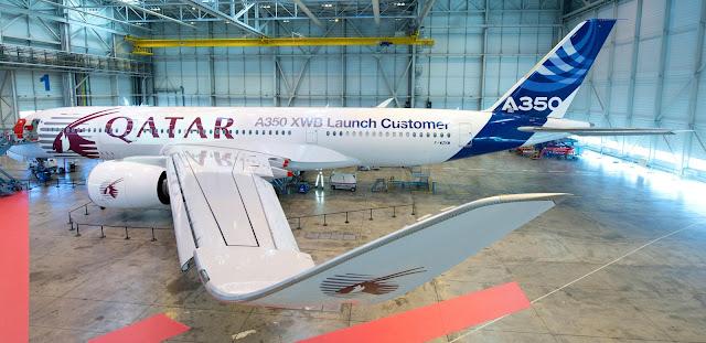 Qatar Airways Airbus A350-900 XWB in Hangar