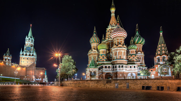 Wallpaper: Moscow. Architecture. Night Lights. Red Square