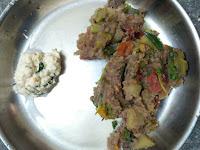 Redrice Poha Rava Veg Kichadi, Coconut chutney