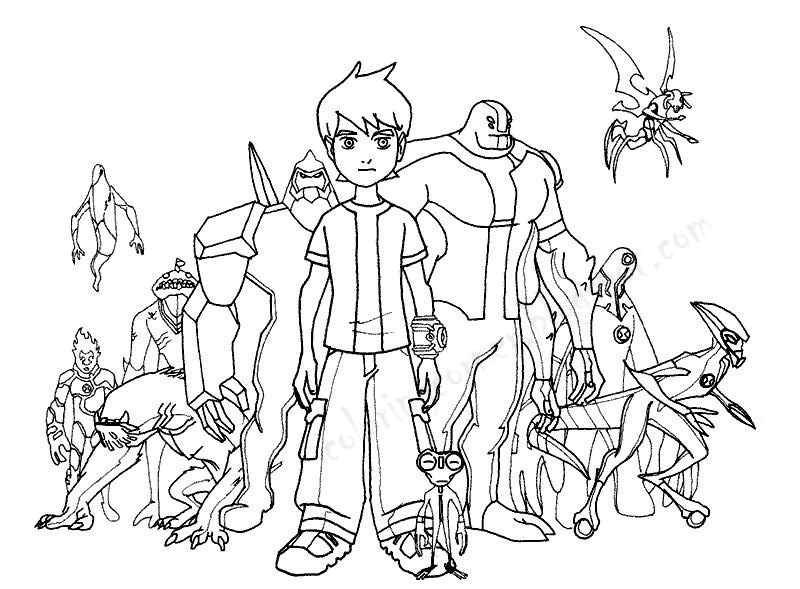 ben 10 printable coloring pages - ben 10 coloring pages