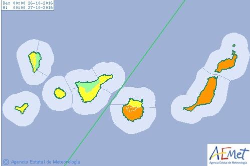 Suspendidas clases escolares en Fuerteventura y Lanzarote, Canarias,   25 octubre