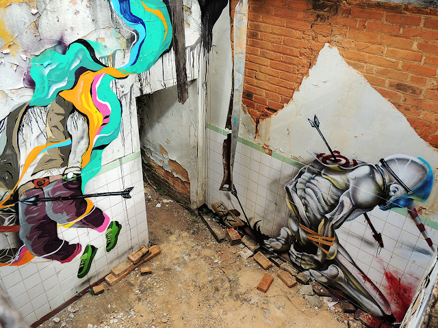 Brazilian artists Michel Japs and Will Ferreira teamed up to create a new series of pieces in various abandoned locations within the city of Sao Paulo in Brazil.