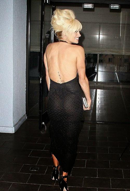 Retro Bikini: Pamela Anderson glistens in a Honeybee Hairstyle as she shines bright like a ...