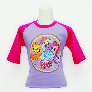 Kaos Raglan Anak Karakter My Little Pony 2 Ungu