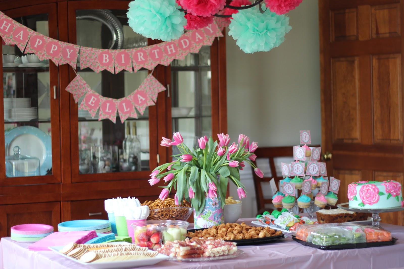 Ferg Family Adventures Ella S Lilly Pulitzer Birthday Party