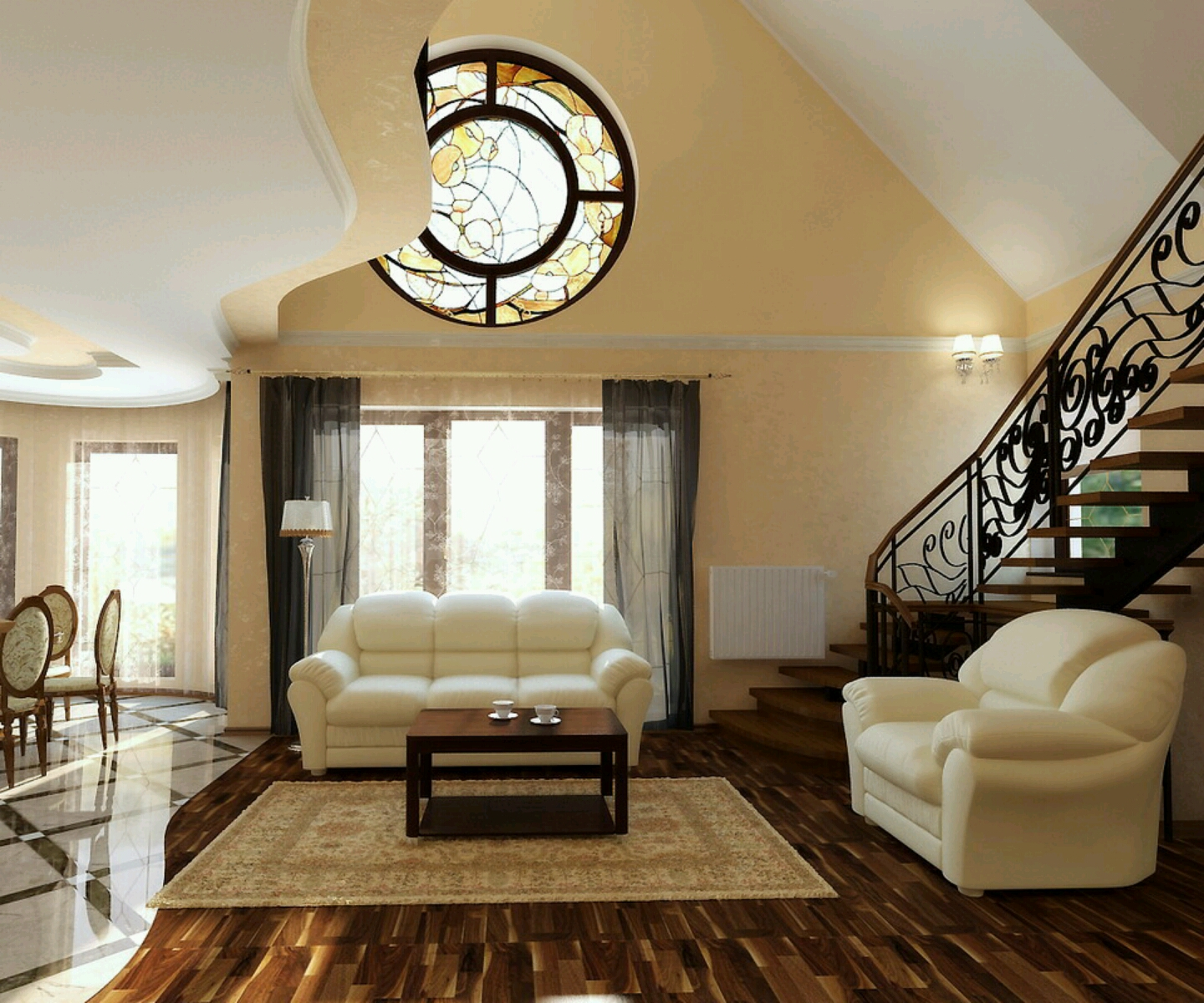 New Home Designs Latest Homes Interior Designs Studyrooms: New Home Designs Latest.: Modern Living Rooms Interior