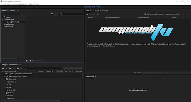 Adobe Media Encoder CC 2020 Versión Full Español