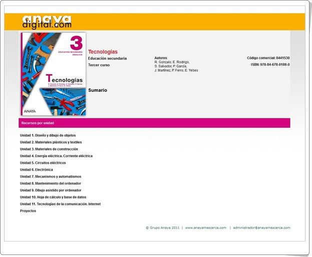 """Anaya Digital: """"Tecnologías de 3º de Educación Secundaria"""""""