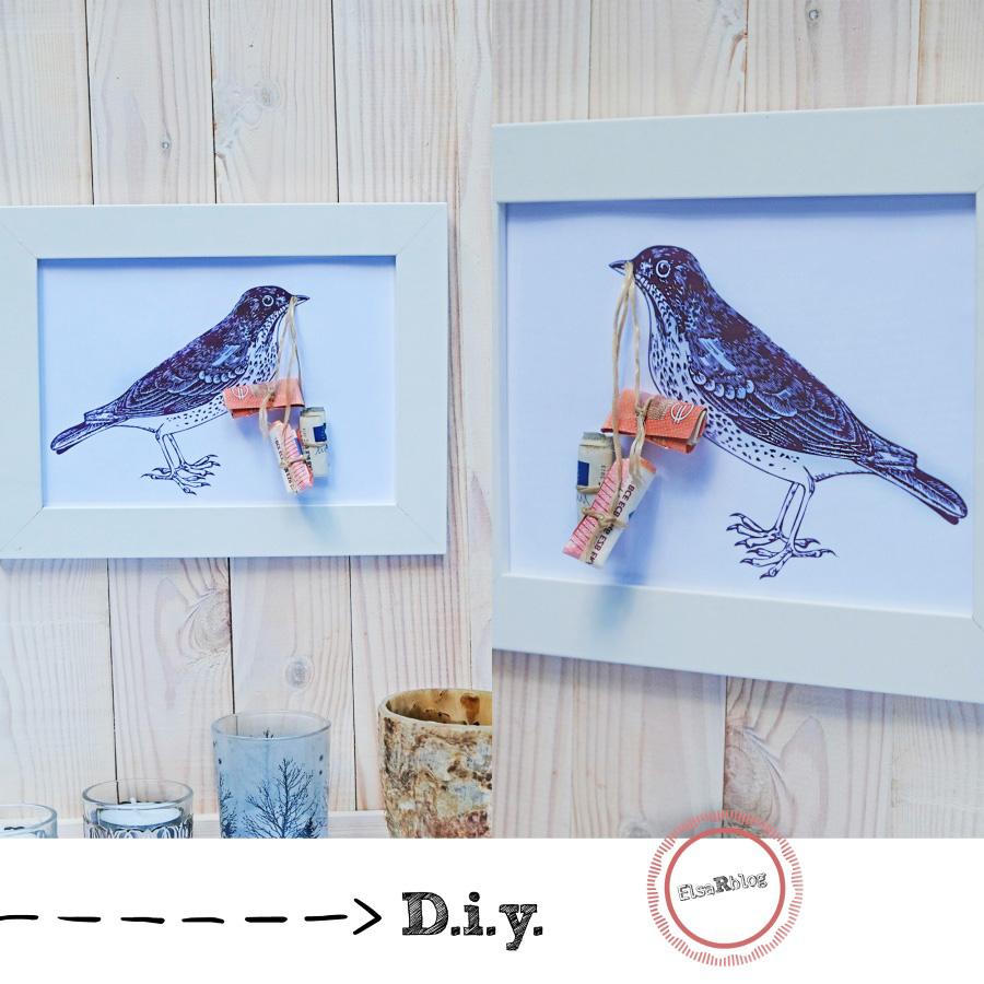 Fotolijst Met Vogel En Geld Diy Cadeau Elsarblog