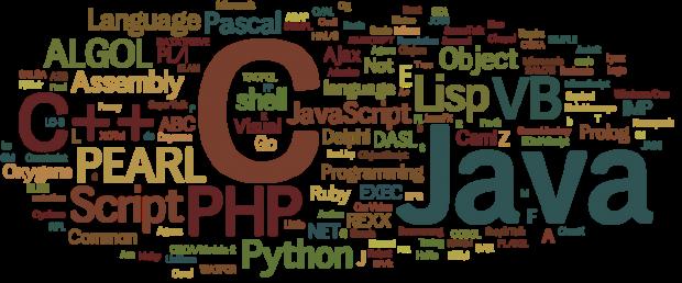 Ellipse full of back end computer languages