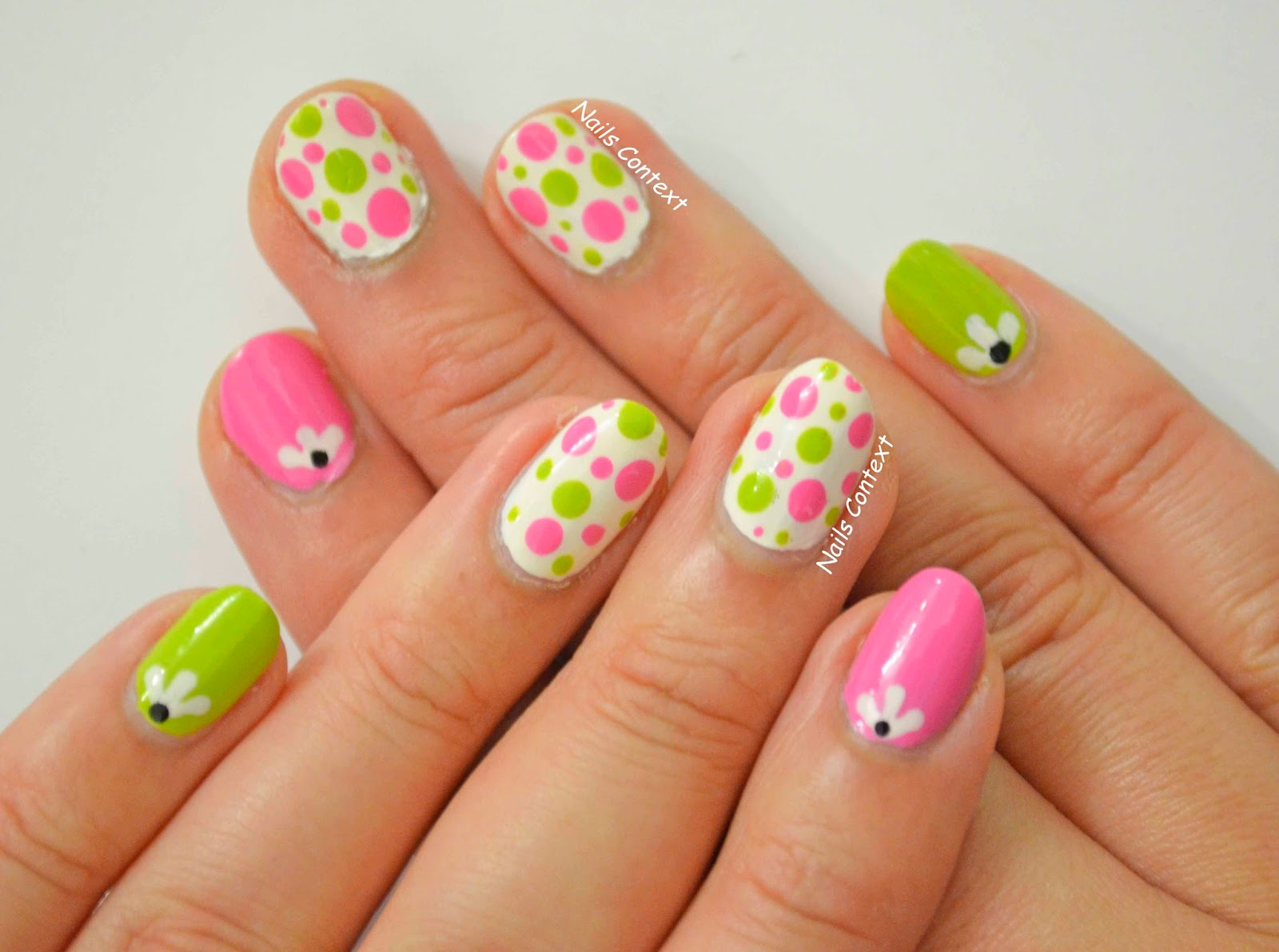 Pink And Green Nails Best Nail Designs 2018