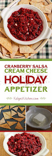 Cranberry Salsa Cream Cheese Holiday Appetizer found on KalynsKitchen.com