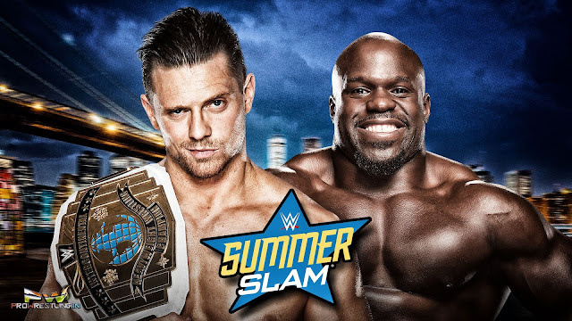 "Download Official HQ Wallpaper for WWE SummerSlam 2016 ""The Miz vs Apollo Crews"" (IC Championship Match)."