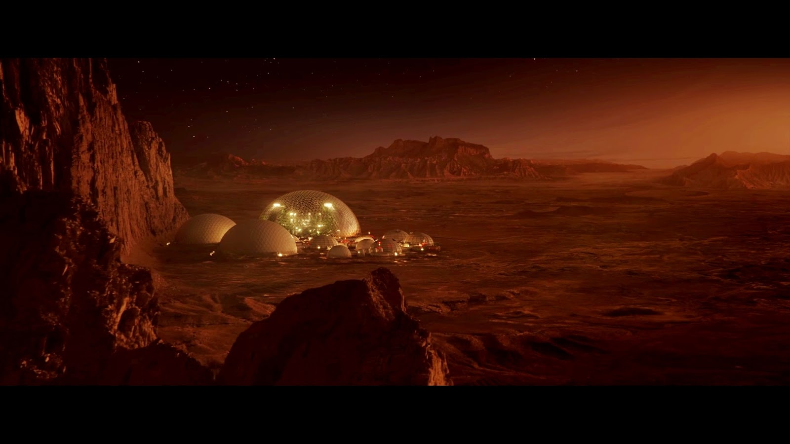 human Mars: Mars colony from The Space Between Us movie