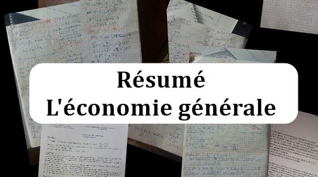 Résumé de L'économie générale