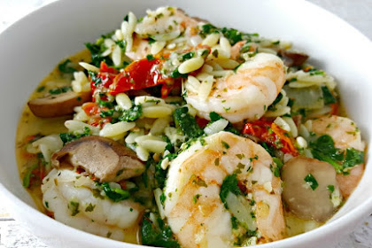 Garlic Orzo Tuscan Shrimp Recipe