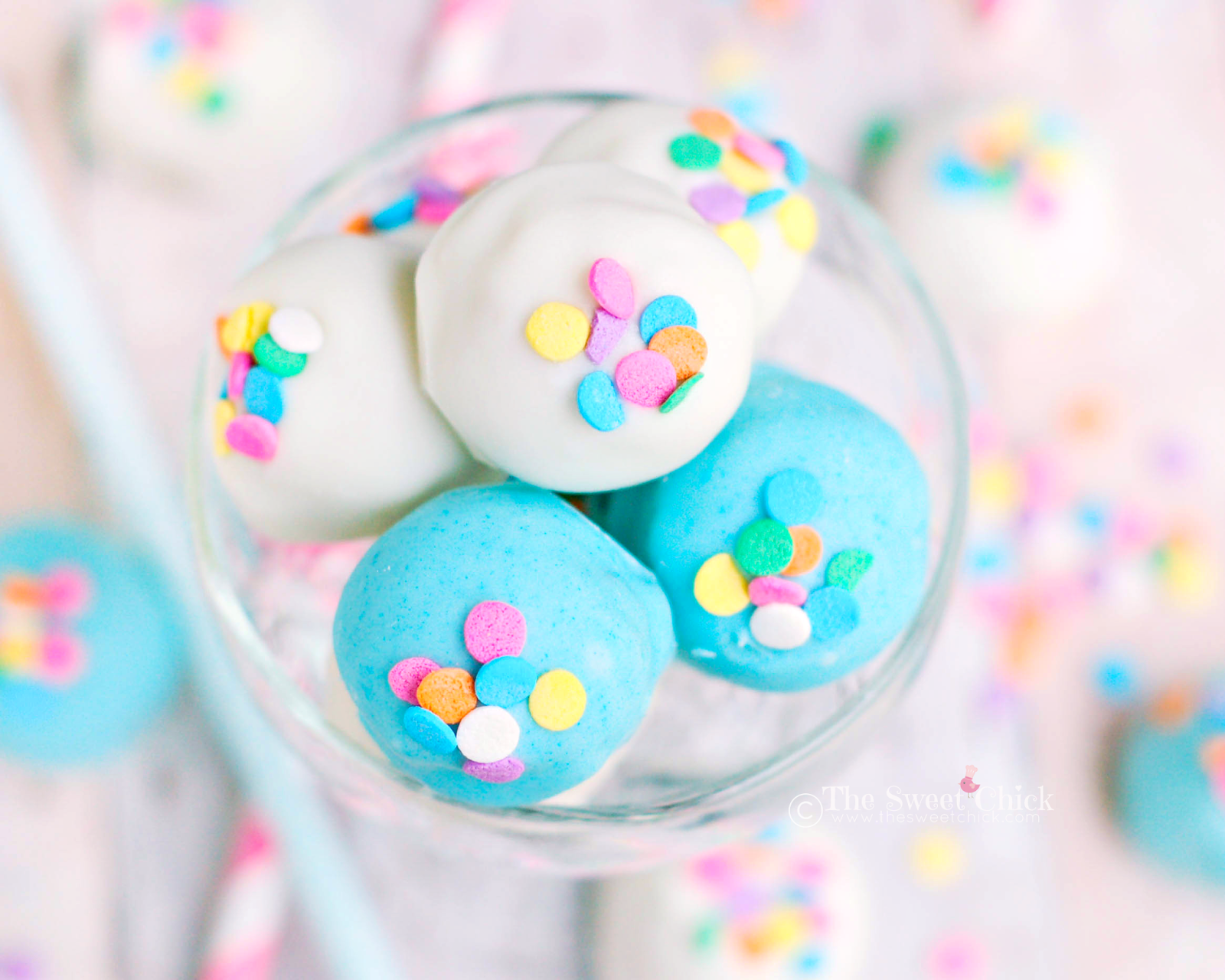 Cotton Candy Oreo Truffle by The Sweet Chick