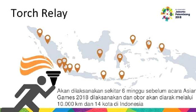 Torch Relay Obor Asian Games 2018