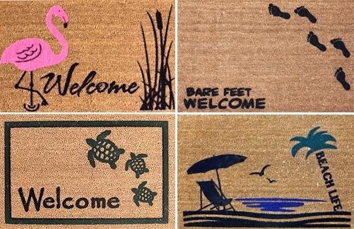 beach welcome doormats
