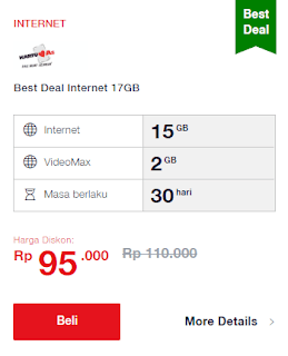 Paket best deal telkomsel kartu AS