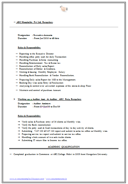 Bcom Resume Samples Cv Format For Freshers Students Over 10000 Cv And Resume Samples With Free Download B Com
