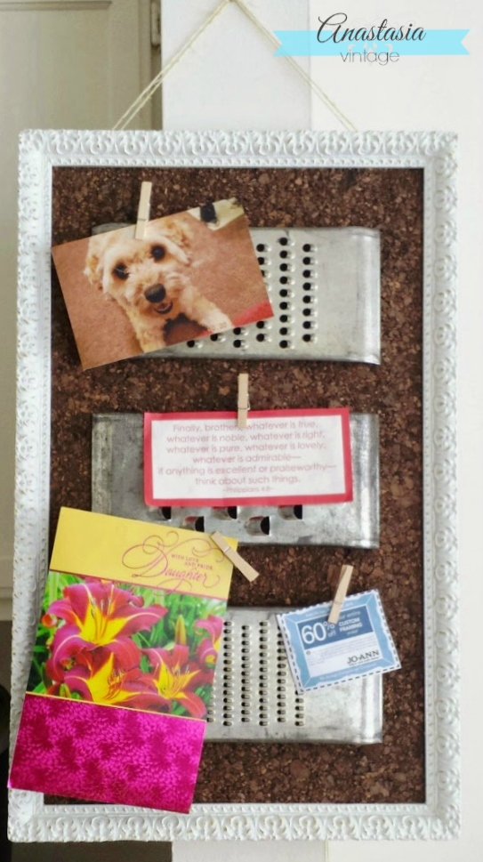 vintage grater repurposed upcycled memo board