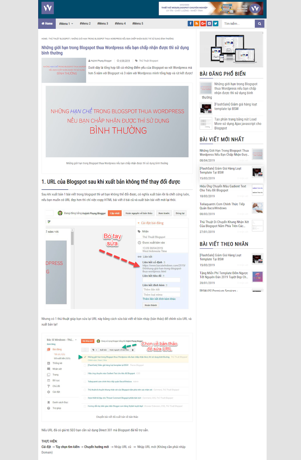 Chia sẻ template blogspot BSW Blogging Fastest Free - Ảnh 2
