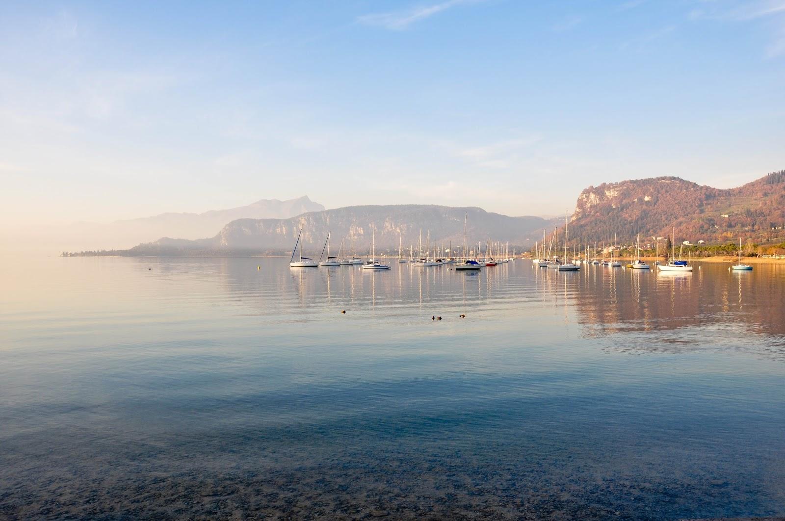 The marina, Bardolino, Lake Garda, Italy