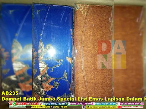 jual Dompet Batik Jumbo Special List Emas Lapisan Dalam Kain