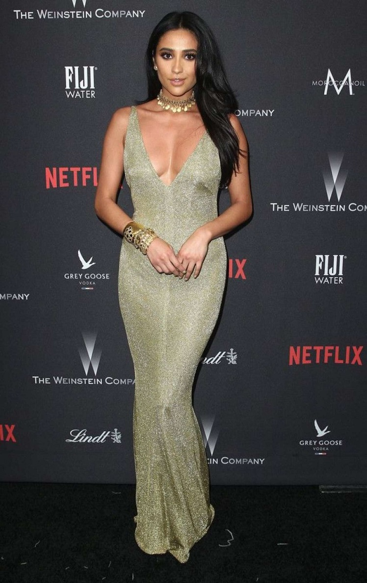 Shay Mitchell smoulders at the 2017 Golden Globes Afterparty in LA