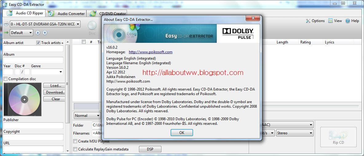 Easy CD-DA Extractor Free — приложение, назначение которого сделать доступным для любого пользователя компьютера, такое действие как, Rip компакт-дисков поддерживая при этом самые различные форматы. Помимо основного предназначения, программа  Easy...