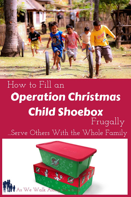 Pack an Operation Christmas Child shoebox frugally