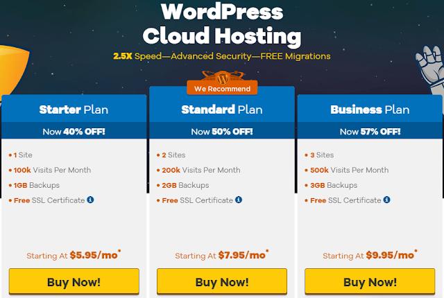 خطط hostgator لشراء استضافة wordpress
