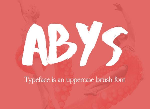 Brush font terbaik 2017 - Abys – Free Brush Font