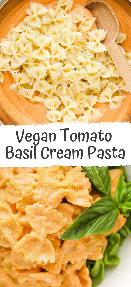 Vegan Tomato Basil Cream Pasta #healthyfood #dietketo