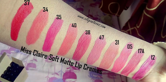 miss claire soft matte lip creams India