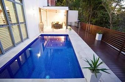 Contoh Desain Kolam Renang Rumah Minimalis Modern