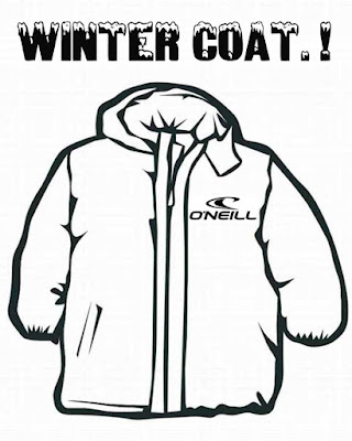 Cool free printable O'Neill fashion design for winter snow clip art snowboarding coat coloring pages