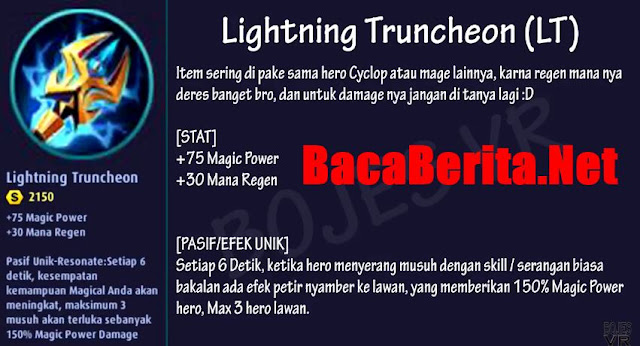 Fungsi item mage Lightning Truncheon mobile legend