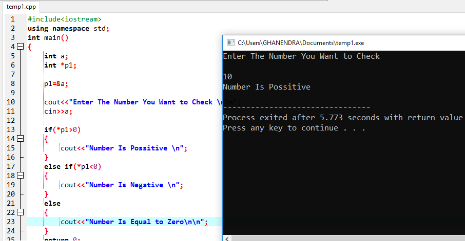 C++ Program To Check Even Or Odd Using Pointer