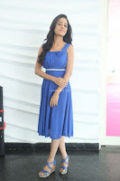 Divya Nandini stunning Beauty in blue Dress at Trendz Exhibition Launch ~  Celebrities Galleries 055.JPG