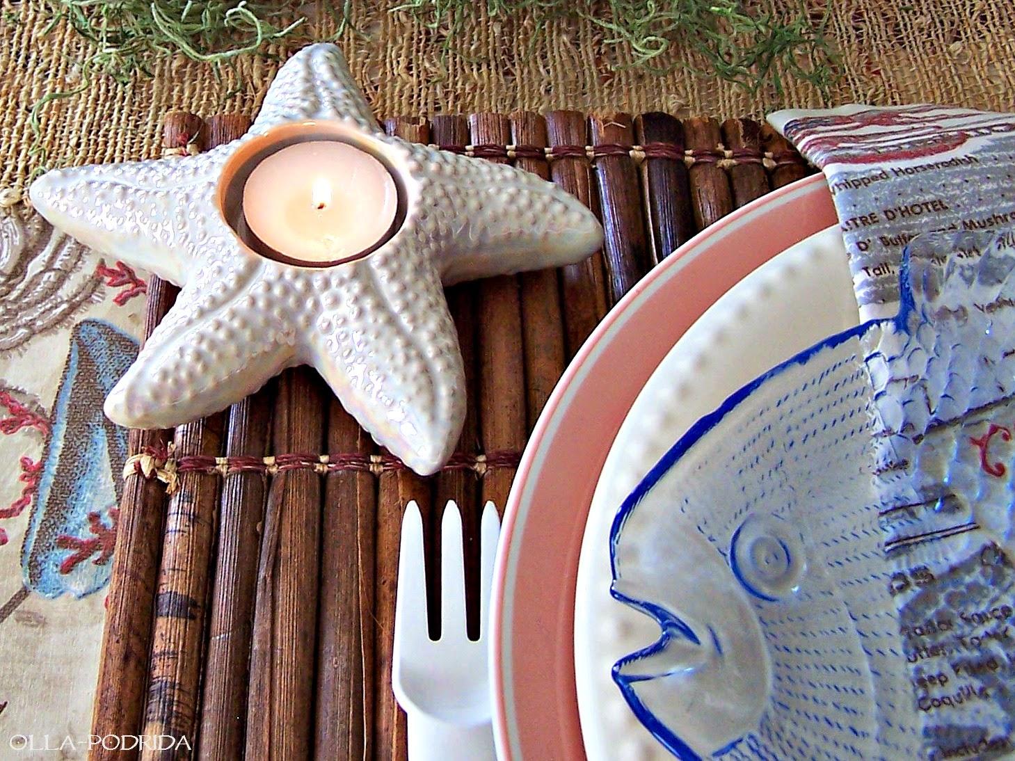 Olla Podrida Seaside Picnic Table Setting