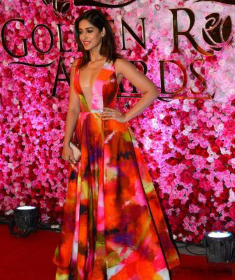 Ileana D'Cruz in Printed Gown At the Lux Golden Rose Awards
